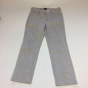 Not Your Daughters Jeans Animal Print Crop Sz 6